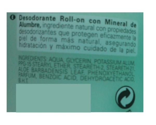 desodorante de aloe vera